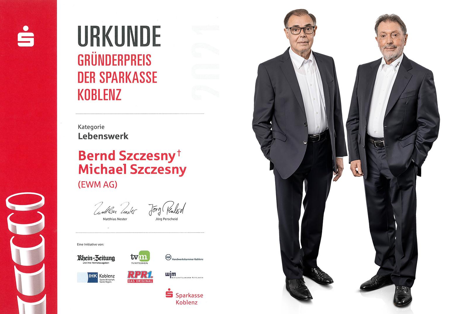"""Regionaler Gründerpreis """"Lebenswerk"""""""